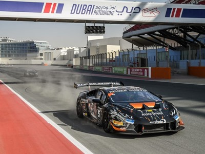 Bartholomew and Pull grabbed their first victory in Race 1 at Dubai in the Lamborghini Super Trofeo