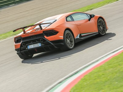Lamborghini Huracán Performante is a record-setter:  the fastest on eight international circuits