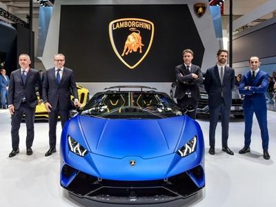 Automobili Lamborghini al Salone dell'Automobile di Pechino 2018