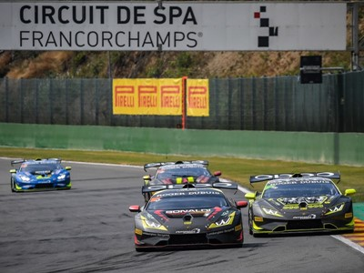 Lamborghini Super Trofeo Europe: double win for Bonaldi Motorsport team at Spa