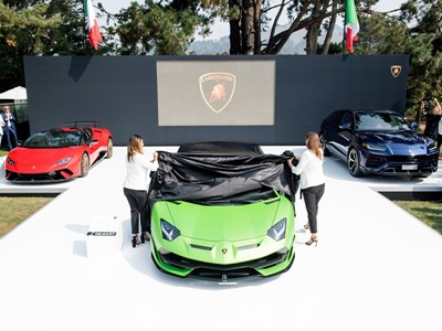 Lamborghini Stages Global Debut of Aventador SVJ Launches Lamborghini Lounge at Monterey Car Week
