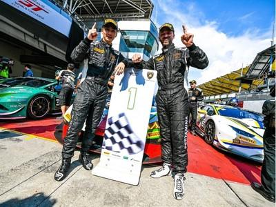 Chen and van der Drift Celebrate Second Consecutive Lamborghini Super Trofeo Asia Victory