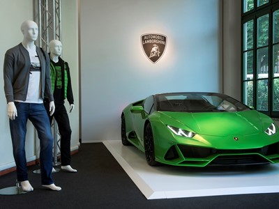 Automobili Lamborghini Menswear S/S 2020 at Pitti Uomo