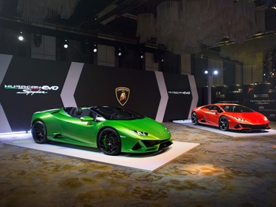The new Lamborghini Huracán EVO Coupé and Spyder officially launch in Hong Kong, China