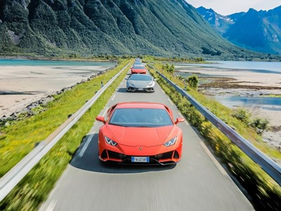 Lamborghini Avventura 2019:  A Huracán EVO expedition above the Arctic Circle to explore Norway's Lo
