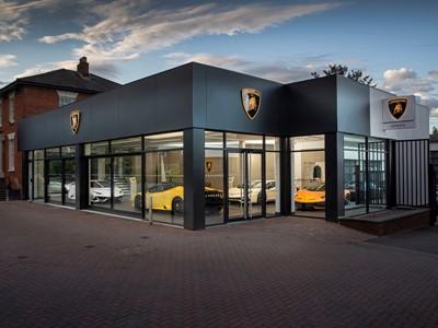 Automobili Lamborghini opens new-design dealership in Pangbourne, UK