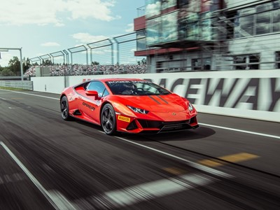 Dynamic Launch of Lamborghini Huracán EVO at Moscow Raceway