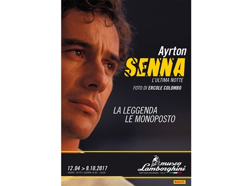 Locandina Mostra Senna Museo Lamborghini