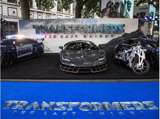 The Lamborghini Centenario at the premiere of Transformers, The Last Knight