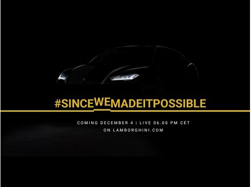 Live Streaming Lamborghini Urus Worldwide Debut