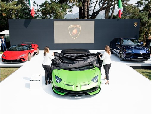 Unveiling of Lamborghini SVJ at The Quail