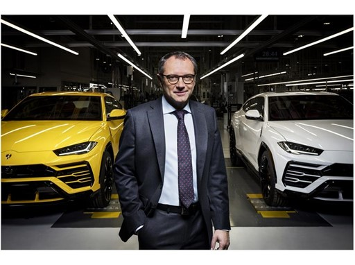 Stefano Domenicali with Lamborghini Urus