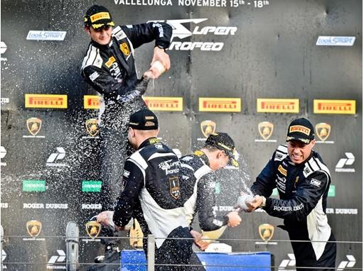 Altoé podium Lamborghini World Final 2018