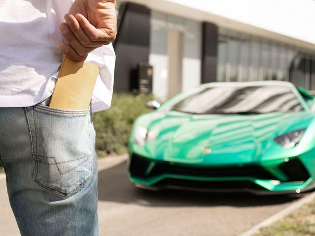 08. Automobili Lamborghini Carbon Bracelets