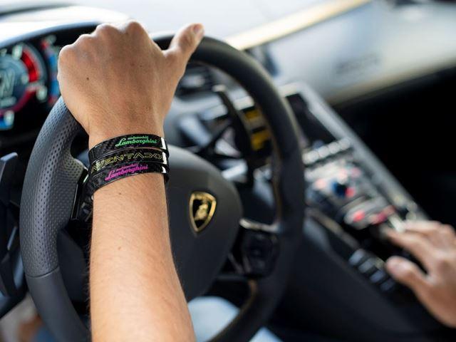 05. Automobili Lamborghini Carbon Bracelets