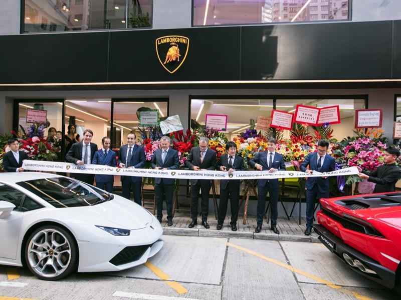 Lamborghini Media Center Lamborghini Hong Kong Opens New Showroom
