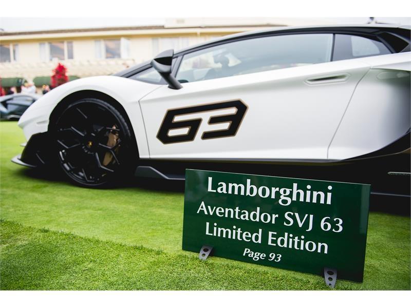 Lamborghini Media Center Aventador Svj 63 Presentation At Pebble