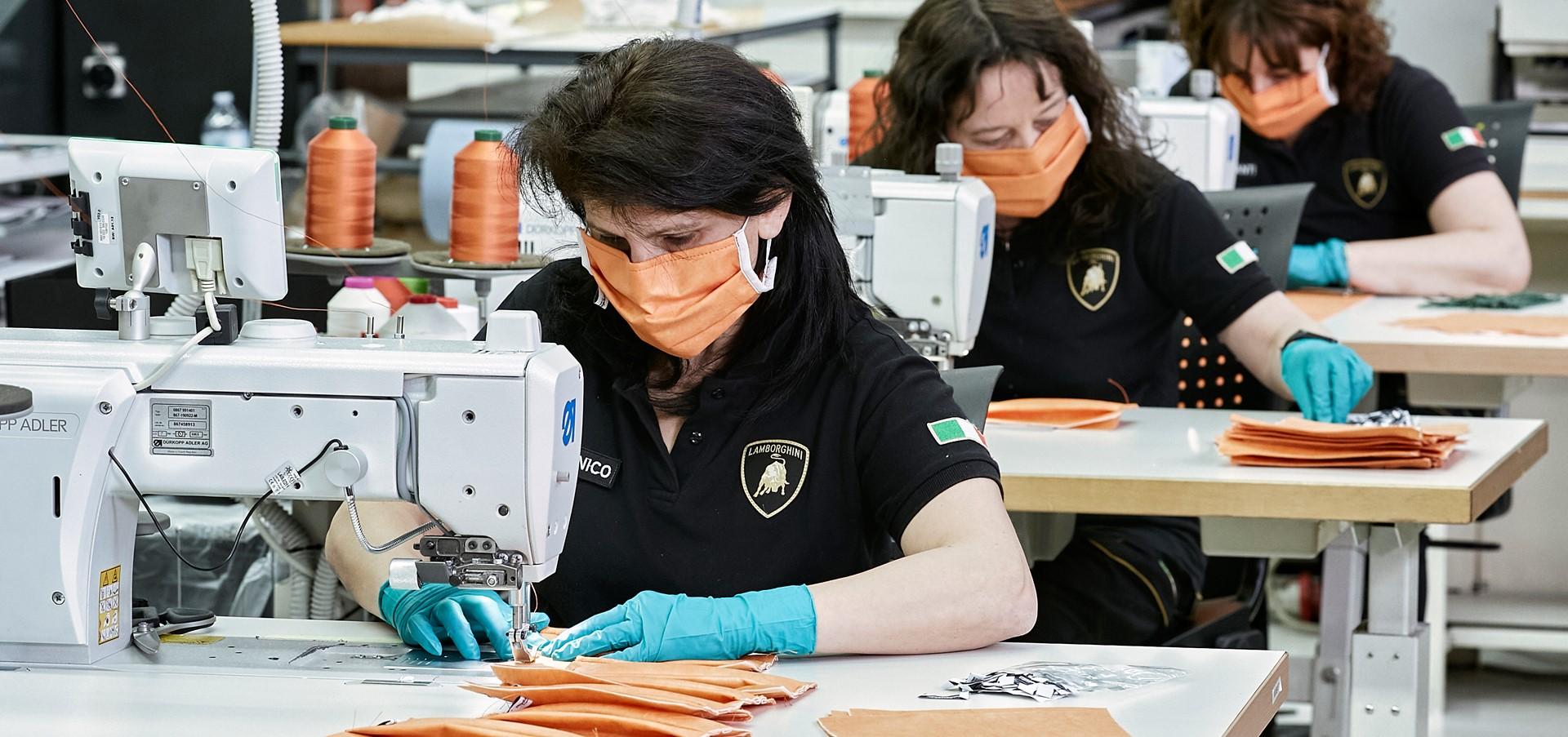 Automobili Lamborghini starts production of surgical masks