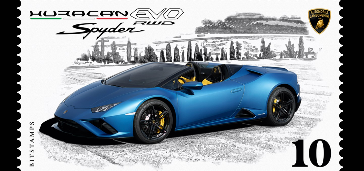 Automobili Lamborghini lancia il suo primo francobollo..