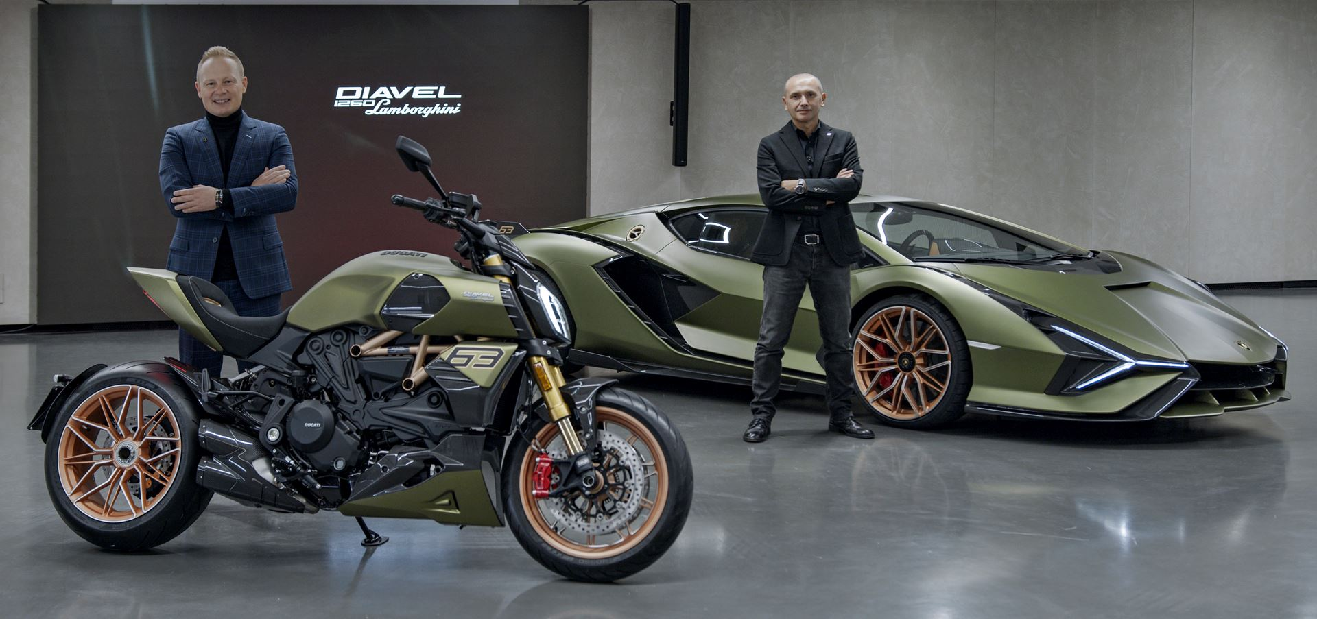 Ducati Diavel 1260 Lamborghini, inspired by the Sián FKP 37