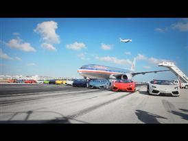 Lamborghini Aventador LP 700-4 Roadster High Speed Demonstration at Miami International Airport Runway