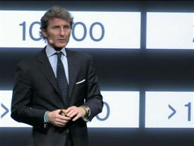 Stephan Winkelmann, President and CEO of Automobili Lamborghini, presents the new Lamborghini Huracán LP 610-4