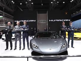 Automobili Lamborghini at the Auto China 2014 in Beijing