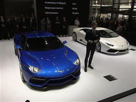 Lamborghini Press Conference at the 2014 Paris Mondial de L'Automobile