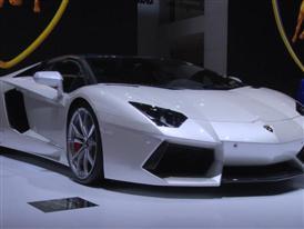 Lamborghini Aventador LP 700-4 Coupe Ad Personam Baloon White at The 2014 Paris Modial De l'Automobile