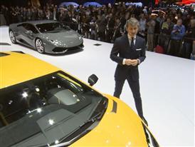 Lamborghini Press Conference at 2015 Geneva Motor Show