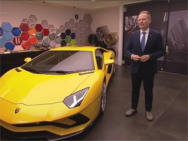 Mitja Borkert, Director of Centro Stile, presents the new Lamborghini Aventador S (German)