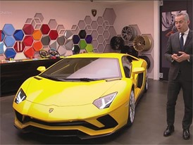 Maurizio Reggiani, Director Research and Development, presents the new Lamborghini Aventador S (English)
