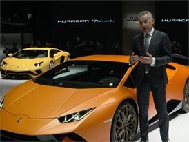 Maurizio Reggiani, Director Research and Development, introduces the New Lamborghini Huracán Performante (Italian)