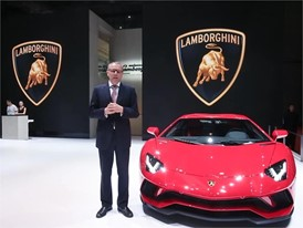 Mr. Stefano Domenicali is talking about the highlights of Aventador S