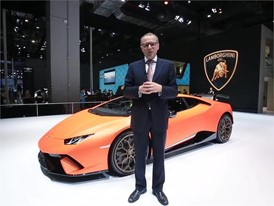 Mr. Stefano Domenicali is talking about the highlights of Huracán Performante