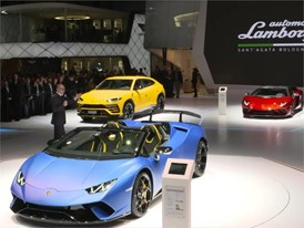 Lamborghini Press Conference at the 2018 Geneva Motor Show