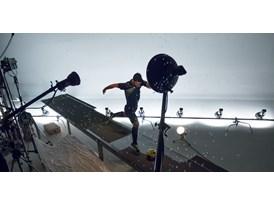 Agüero behind the scenes at PUMA evoSPEED 1.2 FG photo shoot