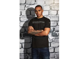 Lewis Hamilton Wears the SS13 PUMA MERCEDES AMG PETRONAS Lifestyle Collection - Image 001