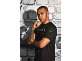 Lewis Hamilton Wears the SS13 PUMA MERCEDES AMG PETRONAS Lifestyle Collection - Image 002
