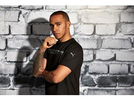 Lewis Hamilton Wears the SS13 PUMA MERCEDES AMG PETRONAS Lifestyle Collection - Image 003