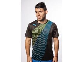 Sergio Aguero wears the new PUMA evoSPEED 1.2 FG