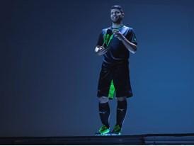 Sergio Agüero wears the new PUMA evoSPEED 1.2 FG
