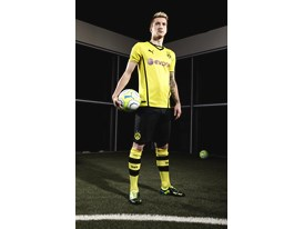 PUMA UNVEILS NEW BVB HOME SHIRT FOR 2013/14 SEASON- Marco Reus