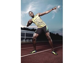 Usain Bolt On Track Editorial Image