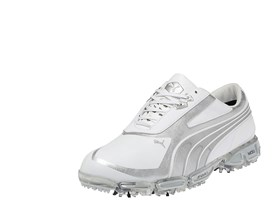 AMP CELL Fusion Rickie Fowler signature shoe in White/PUMA Silver