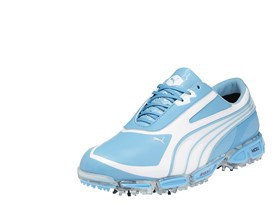 AMP CELL Fusion Rickie Fowler signature shoe in Blue Atol/ White