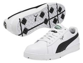 PUMA PG Clyde Shoe in White/ Black