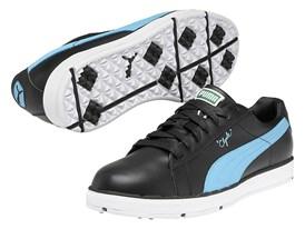 PUMA PG Clyde Shoe in Black/ Brilliant Blue