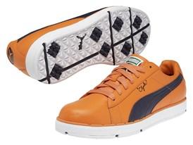 PUMA PG Clyde Shoe in Vibrant Orange/ Black