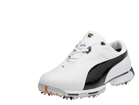 Lux Collection Zero Limits Golf Shoe in White/ Black/ PUMA Silver